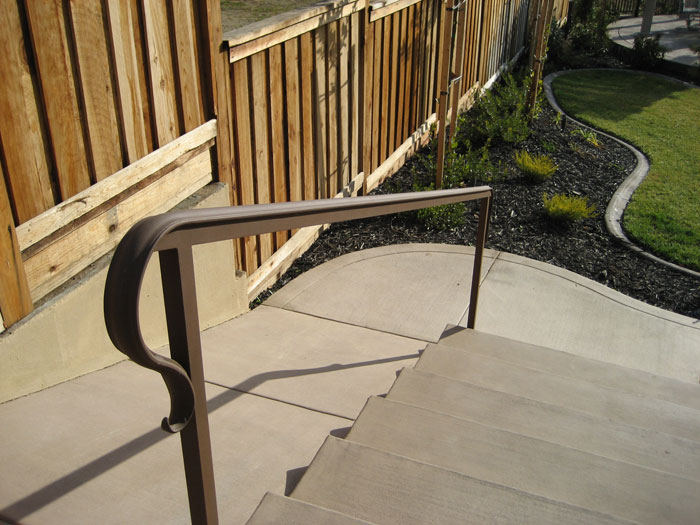 Exterior wrought iron railing sacramento wrought iron railing - Exterior wrought iron handrails for steps ...