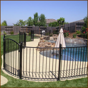 Residential Wrought iron Fence